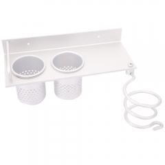 New Hair Dryer Stand Storage Organizer Rack Holder Hanger Wall Bathroom Set silver one size