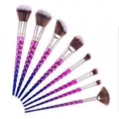 8Pcs Thread Makeup Eyeshadow Brushes Powder Foundation Lip Brush Unicorn Tool Set colorful
