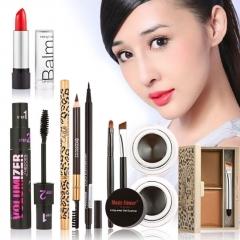 Makeup Kits Gift Set Eyeshadow Foundation Blusher Powder Lip Gloss Eyelash Kit as picture
