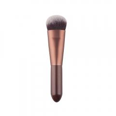 Professional Nylon Fiber Brush Face Powder Foundation Contour Blush Cosmetic Makeup Tool Brown