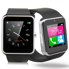 Smart Bluetooth Wrist Sport Watch SIM Camera for IOS Android Samsung Silver silver one