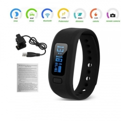Bluetooth V4.0 Smart Bracelet Sports Fitness Tracker Wristband for Android & iOS black one