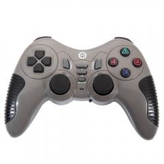 New Wireless Vibration Joystick Joypad PC Gamepad Controller for Pro Gamer Grey