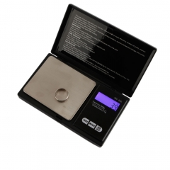 500g x 0.1g Digital Pocket Gram Jewelry Weight Electronic Balance Scale black one size