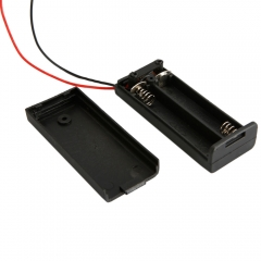 "New 2 AAA 3A Battery 3V Holder Box Case with ON/OFF Switch Black +6"" Leads"