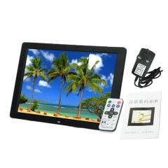 "15"" Widescreen LED HD Digital Photo Picture Frame Movie Player Remote Control black 15"
