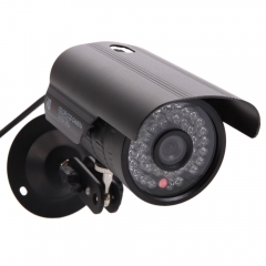 1200TVL HD 6mm Lens IR Night Vision Outdoor Waterproof CCTV Security Camera black one size
