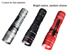 Tactfire Mini Brightness Zoomable Retractable LED Flashlight Waterproof silver one