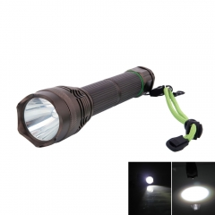 Upgraded 4800LM L2 5 Modes Waterproof Wide Illumination Range Flashlight with Strap black one
