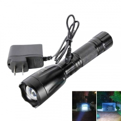 Super Bright 3000LM LED Focus Flashlight Torch Light 5Modes w/ Car AC Charger black one