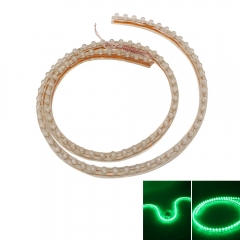 96cm LED Neon Car Light Waterproof PVC Strip Light 12V green 96cm no