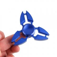 Tri Fidget Hand Spinner Triangle Torqbar Brass Finger Toy  Focus EDC Autism blue