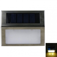 Outdoor Solar Power LED Light Garden Fence Wall Pathway Stair Yard Lamp warm white one size no