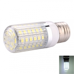 E27 12W 60 x 5730SMD LED 1200lm 6000-6500K White Light LED Corn Bulb with Striped Lampshade white one size 12w