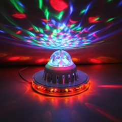 Sunflower 48 LED RGB Light 8W Voice-Activated/Auto Rotating Party stage Light white one size 8w