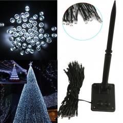 50-LED Solar Power String Fairy Light Party Xmas Outdoor Garden Tree Decor white 200cm no