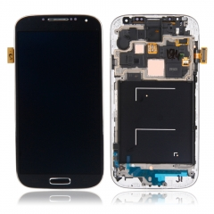 LCD Display Touchscreen Komplettset Rhmen für Samsung Galaxy S4 i9505 i9508 blue one size