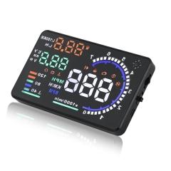 "5.5"" Car HUD Head Up Display OBDII KM/h Speeding Warning A8 Interface Compass"