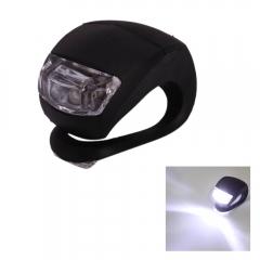 LED Bike Light Bicycle Lamp Waterproof Head Tail Wheel Black Silicone