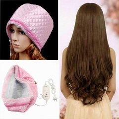 Pro Hair Thermal Treatment Hair Steamer SPA Nourishing Hair Care Cap Tools Pink Pink One