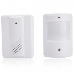 Wireless Door Bell PIR Welcome Alarm Motion Sensor Detector Door Bell white one size