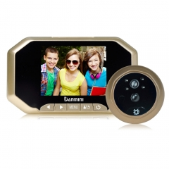 "3.5"" LCD Digital Peephole Viewer 160° Door Eye Doorbells Video Color IR Camera golden one size"