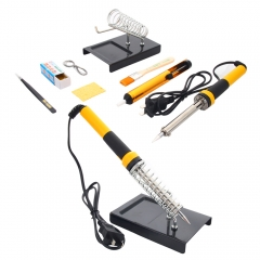 7in1 110V 60W Electric Welding Rework Soldering Iron Kit Desoldering Pump Stand as picture one