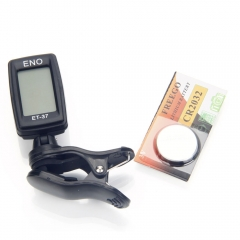 New ET-37 Mini LCD Clip-on Digital Chromatic Guitar Bass Violin Ukulele Tuner