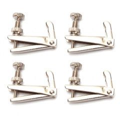 4 Pcs Violin Fine Tuners String Adjusters 3/4- 4/4 Silver High Quality