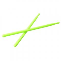 1 x Pair of Lightweight 5A Practical Light Green Nylon Material Drum Sticks