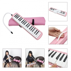 37 Piano Keys Melodica Musical Instrument forBeginners w/ Carrying Bag Pink