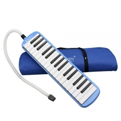 New 32 Piano Keys Melodica Musical Instrument for Beginners w/ Carrying Bag Blue