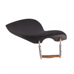New Black 4/4 Violin Chinrest Chin Rest & Screw & Cork