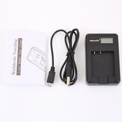 NP-BN1/NP-120 Camera Battery Charger w/ Screen for Sony Cybershot DSC-TX10 W330 black one size