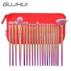 20pcs Rhombus Shaped Nylon Bristle Plastic Handle Cosmetic Makeup Brush Set as picture