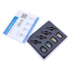 New AAA Dental High-intensity 20 PCS Fiber Posts Resin Screw Thread 4 Drills Kit as picture