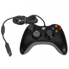 USB Wired GamePad Controller For Microsoft Xbox 360 Console Black US