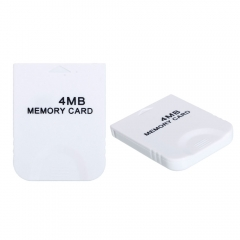 4MB 4 MB Memory Card Stick for Nintendo Wii GameCube NGC Console white