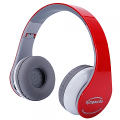 BT-513 Professional Bluetooth Headphone for PS4 with MIC Game Console Red red
