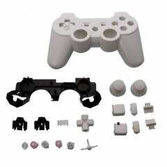Handle Shell White Parts 19 Packages for PS3 Wireless Controller white