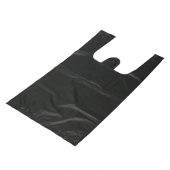 """100 0.64mil 8""""x4""""x15"""" Plastic Retail Shopping Packing Merchandise Poly Open Bags black one"""
