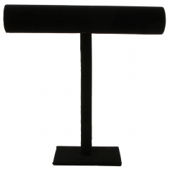 Black Velvet Necklace Bracelet T-Bar Jewelry Jewellery Display Holder Stand black one size