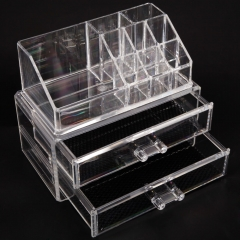 Acrylic Cosmetic Organizer Drawer Makeup Case Storage Display Insert Holder Box transparent