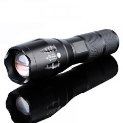 Super Light S2 1200 Lumen 5 Modes Zoomable  XML  T6  LED  18650 Flashlight Focus  Torch Lamp Black Black