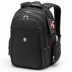 "15"" Laptop Swiss Gear Men Travel Bag Macbook Laptop Hiking Backpack Outdoor Bags black one size"