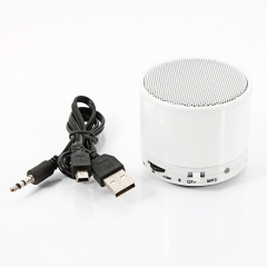 S10 Bass Bluetooth Wireless Stereo Music Speaker LED light Phone MP3/4 PC White white dc 5v one