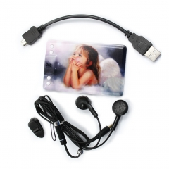 2GB Little Angel Holding Jaw Credit Card Shape MP3 Player as picture