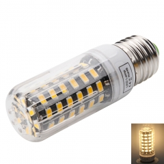E27 7W 64-LED 5733SMD 3000-3500K Warm White LED Corn Lamp with Lampshade warm white one size 7w