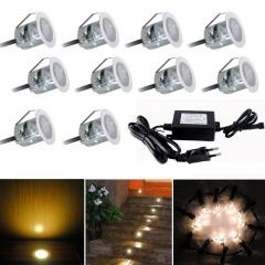 6W 10-LED 2835SMD 3000K Waterproof Mini LED Underground Buried Lamp EU Plug (DC 12V) warm white one size 6w