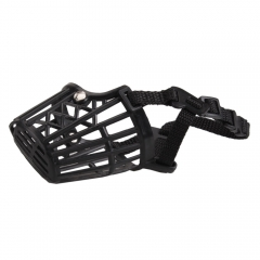 Nylon Basket Cage Adjustable Pet Dog Muzzle Black Size-2 black one